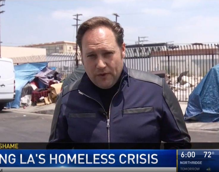 KNBC-TV's recent news segment 'Some Say City Hall's Cleanup on Skid Row Isn't Enough'.